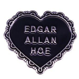 """""""Edgar Allan Hoe"""" Lapel Pin Literary Pun Pin"""
